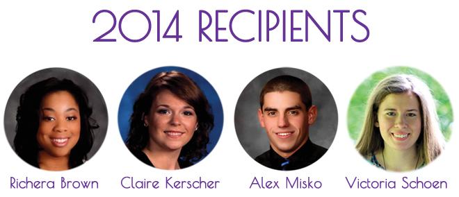 2014 Scholarship Recipients